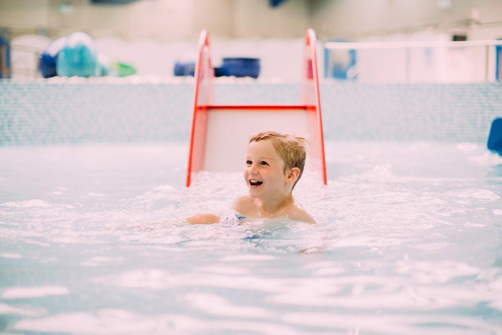 Toddler swimming at Ribby Hall Village