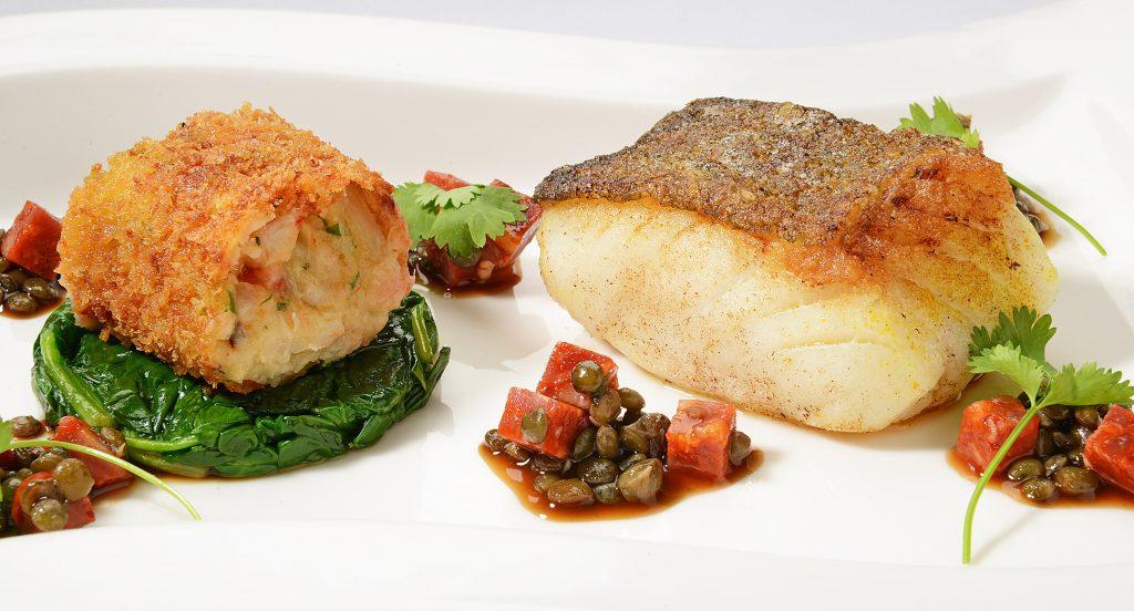 Pan fried loin of cod
