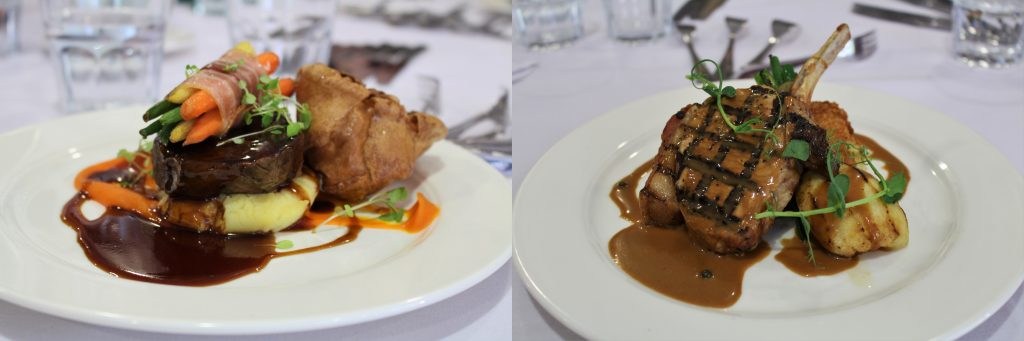 Event main courses, Ribby Hall Village