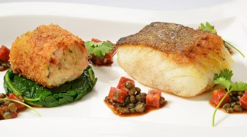 Pan fried loin of cod