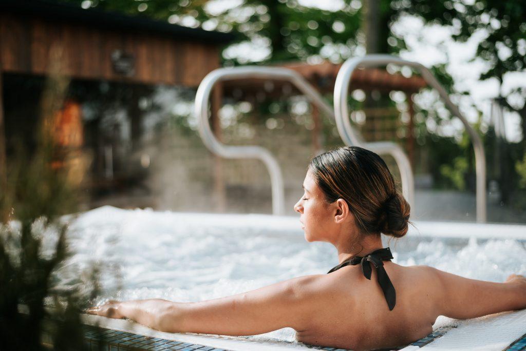 hot tub zen garden